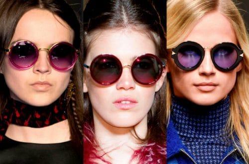 Gafas redondas en NY fashion week
