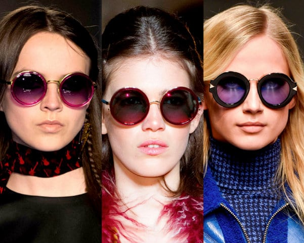 Gafas redondas en NY fashion week