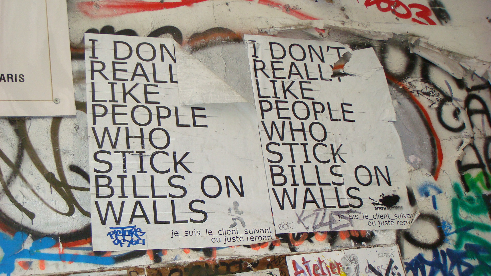 I don't really like (Urban art, Paris)