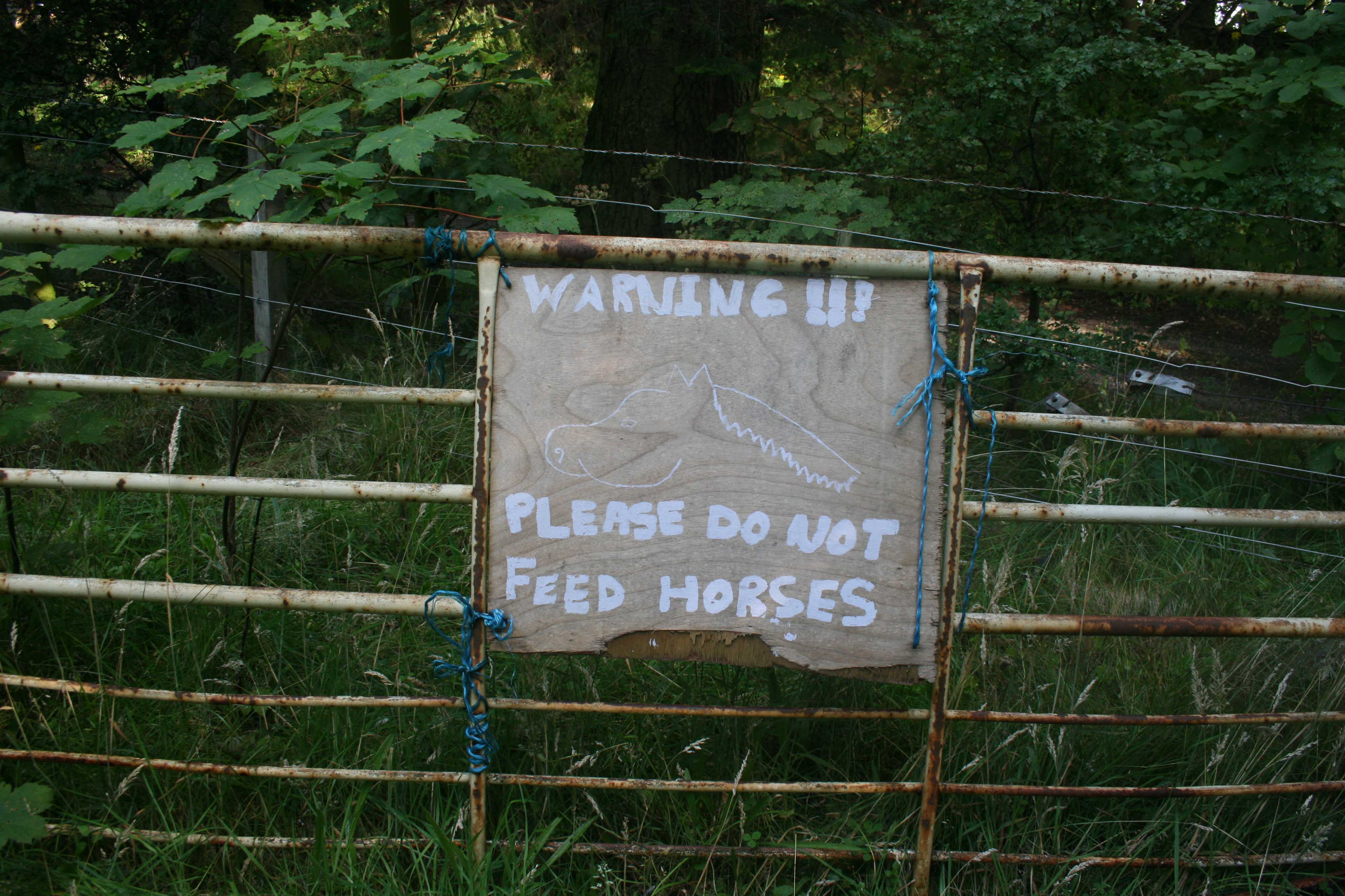 Don't feed (Scotland)