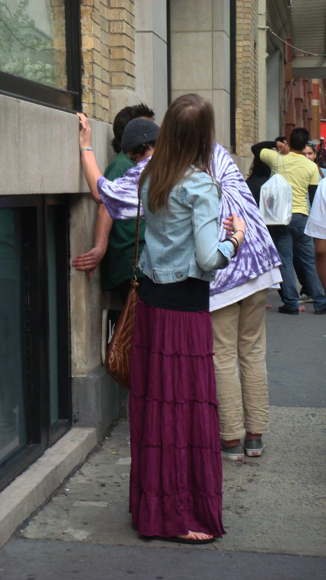 Purple skirt (NYC)