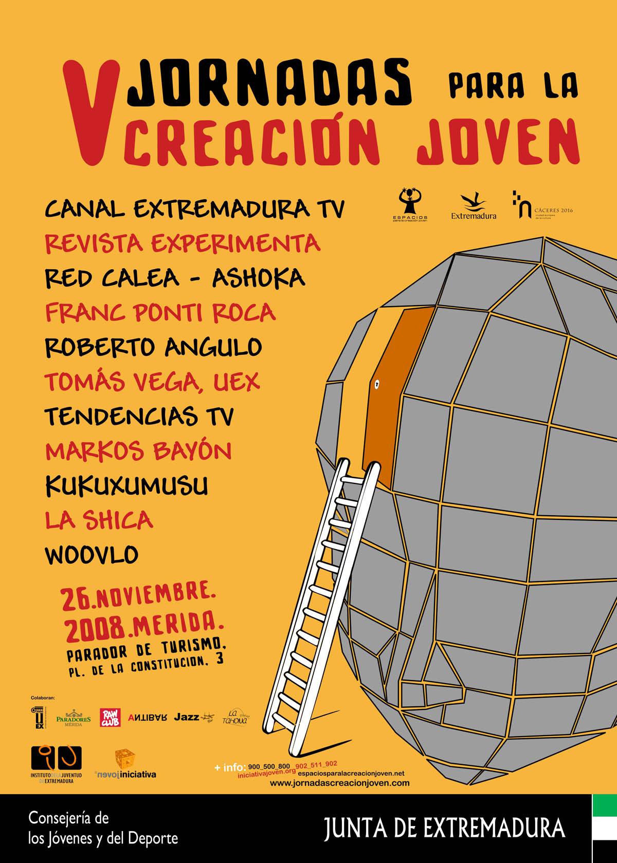 Fuimos a Mérida y participamos en V Jornadas para la Creación Joven