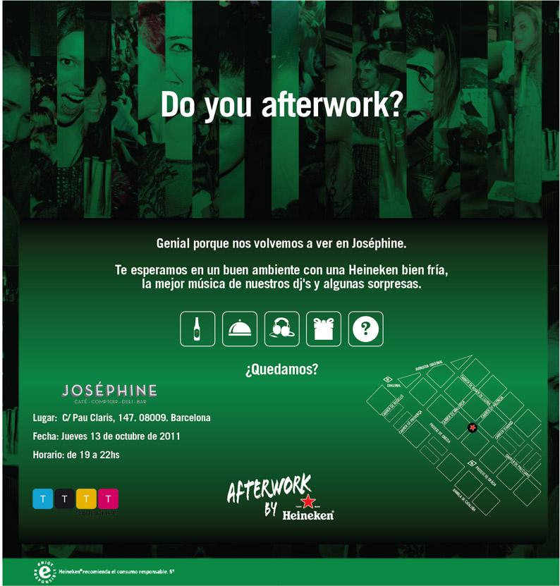 Media partner de Afterwork by Heineken en Josephine