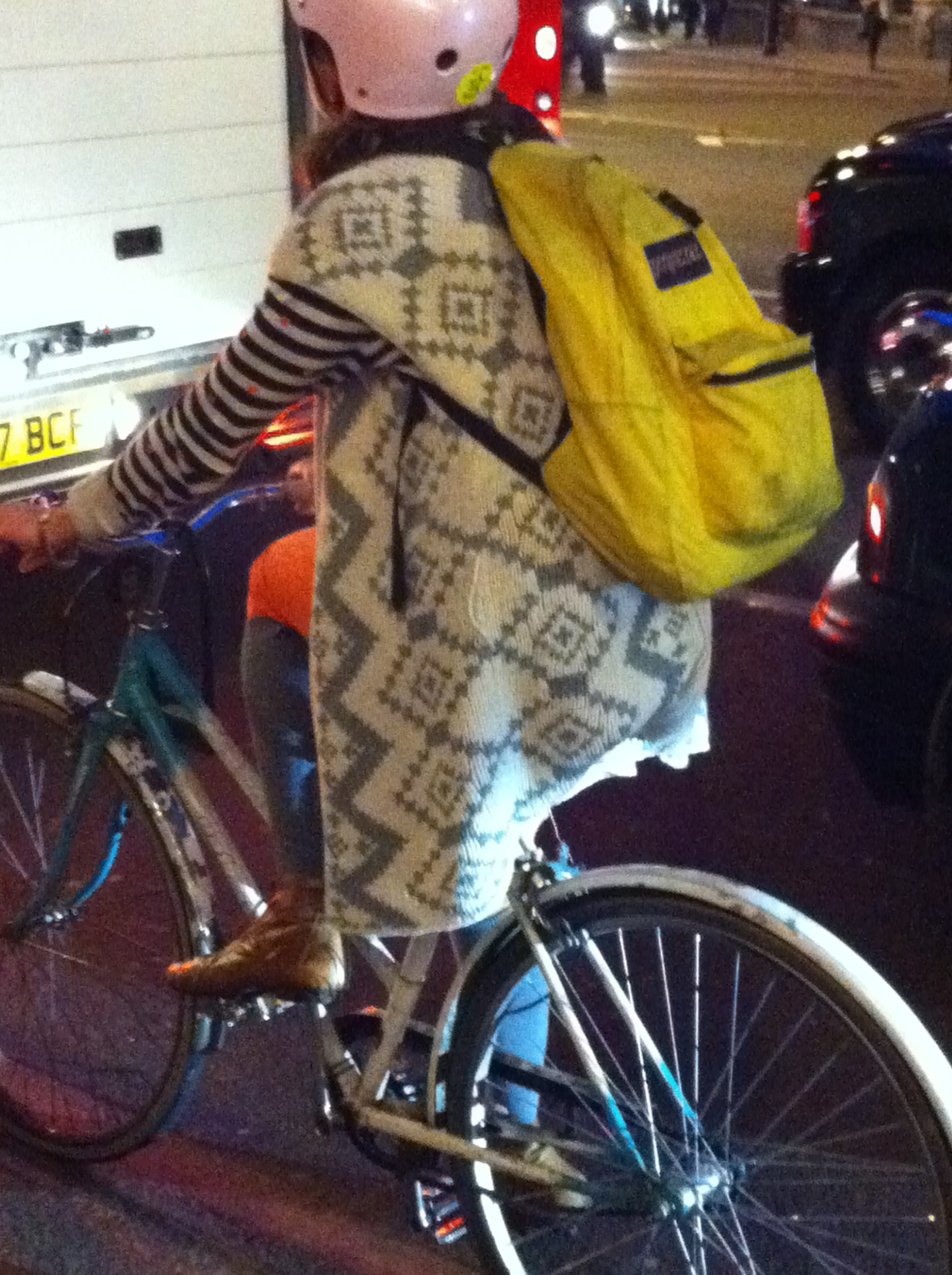 Yellow backpack (London)