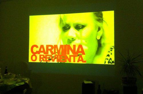 """""""Carmina o revienta"""" en casa"""