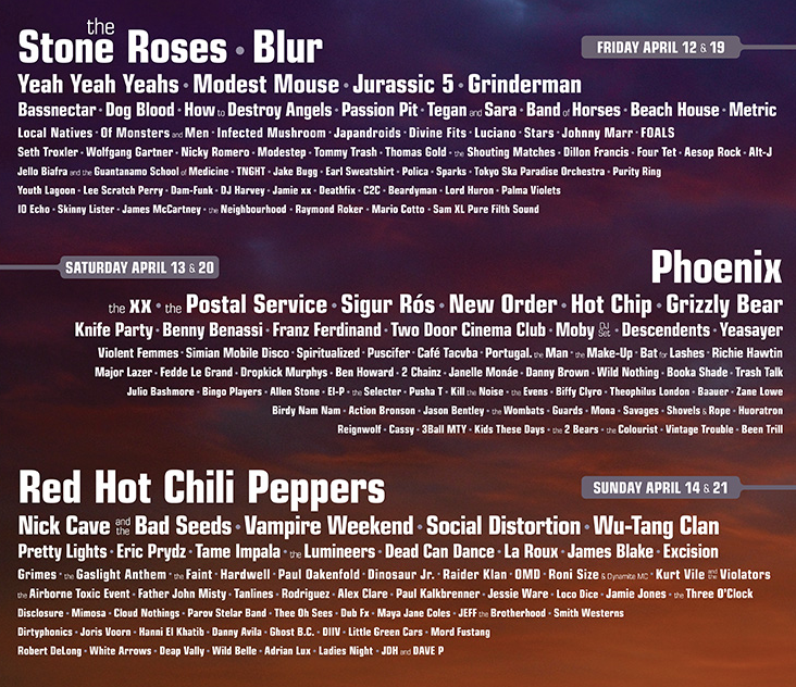 Coachella 2013 line up
