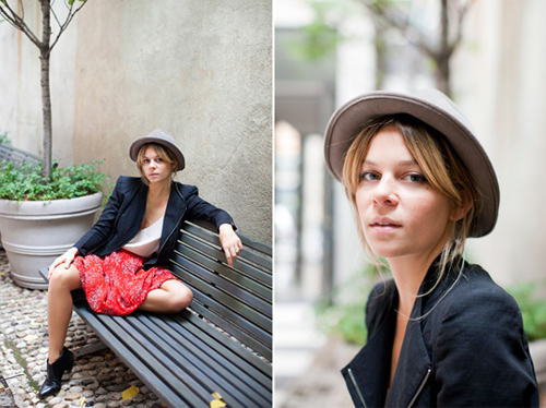binki shapiro hat style portrait