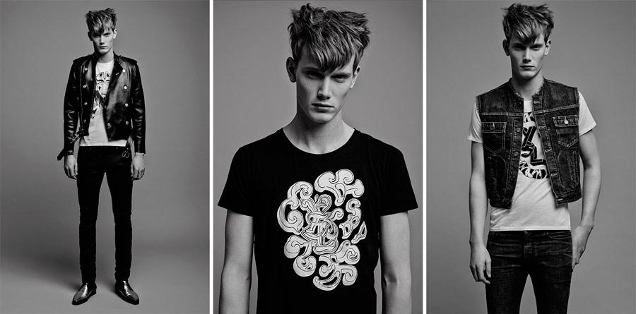 Grimes diseña camisetas para Saint Laurent