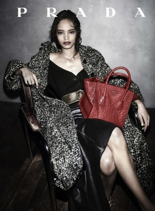 prada-casts-black-model-in-ad-campaign-for-the-first-time-in-almost-two-decades-maiaika-firth