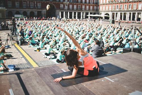Una clase de Yoga con Oysho