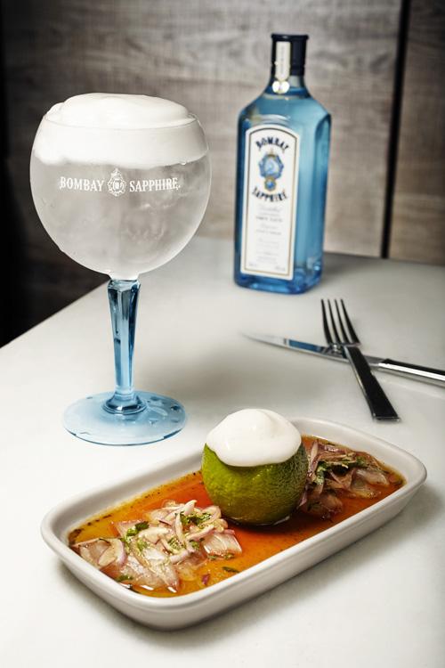 Ceviche con emulsión de Bombay Fizz Menú Bombay Sapphire El Japonés_Media