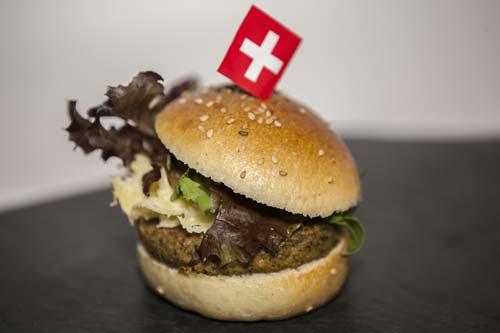 La auténtica cheeseburger suiza