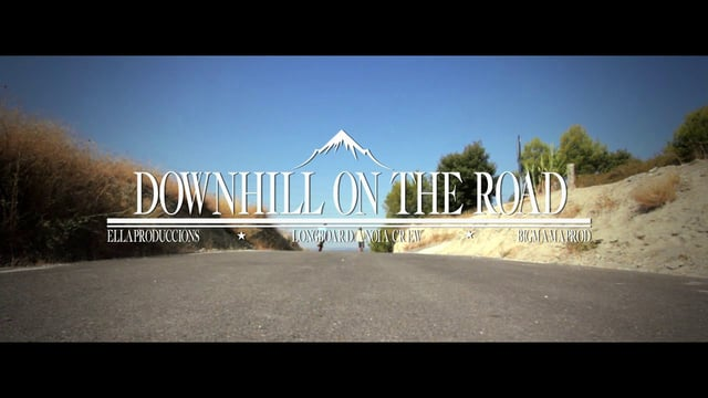 Downhill on the road