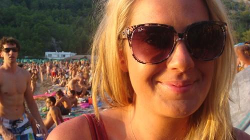 Sunglasses at sun (Ibiza)