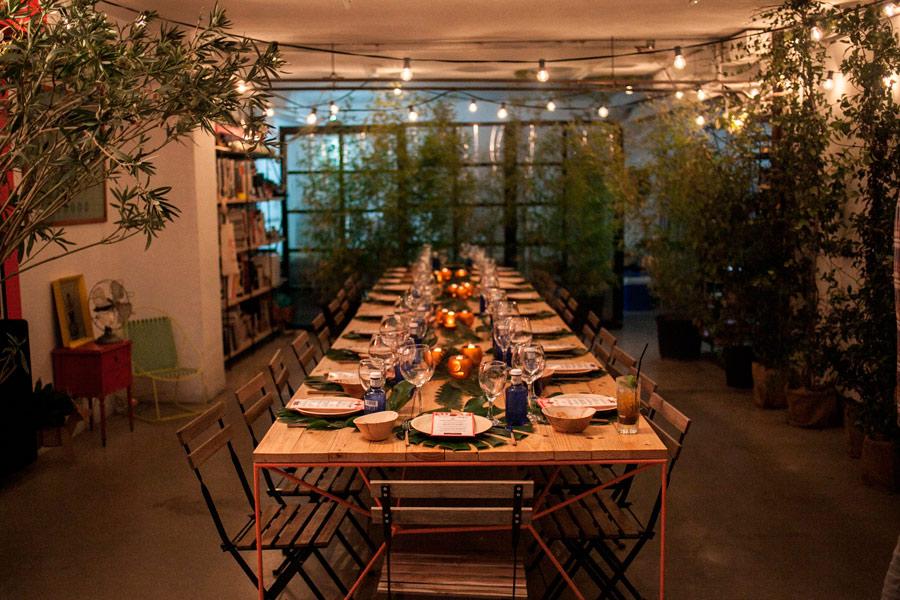 Terraza Jager, una cena en una selva de interior