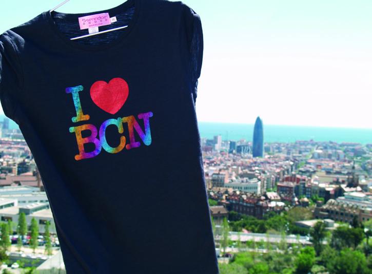 Camisetas I Love BCN de 5 sentidos