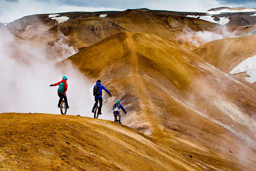 Eldorado Iceland on one wheel