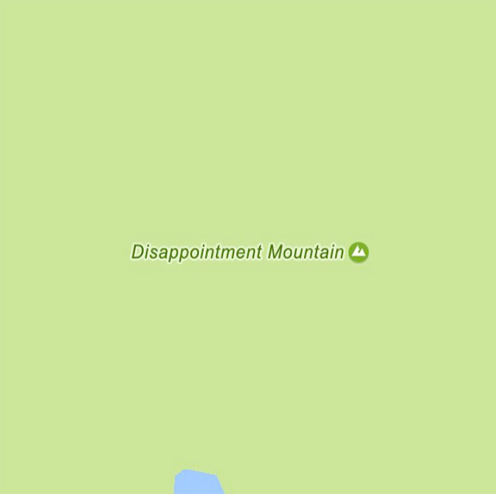 sadtopographies Disappointment Mountain USA