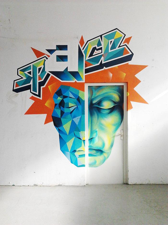 jimmie zu graffiti cara geometrica