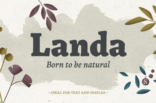 Landa o naturalidad orgánica en formato tipografía