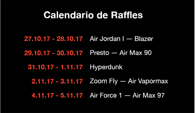 calendario sorteo si vas descalzo the ten nike