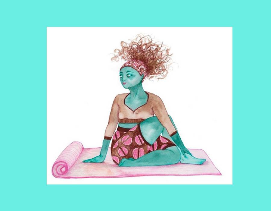 yoga ilustración Frida Hammar