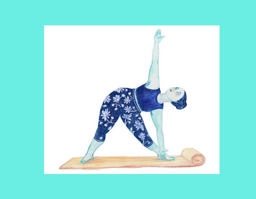 yoga ilustración dibujos