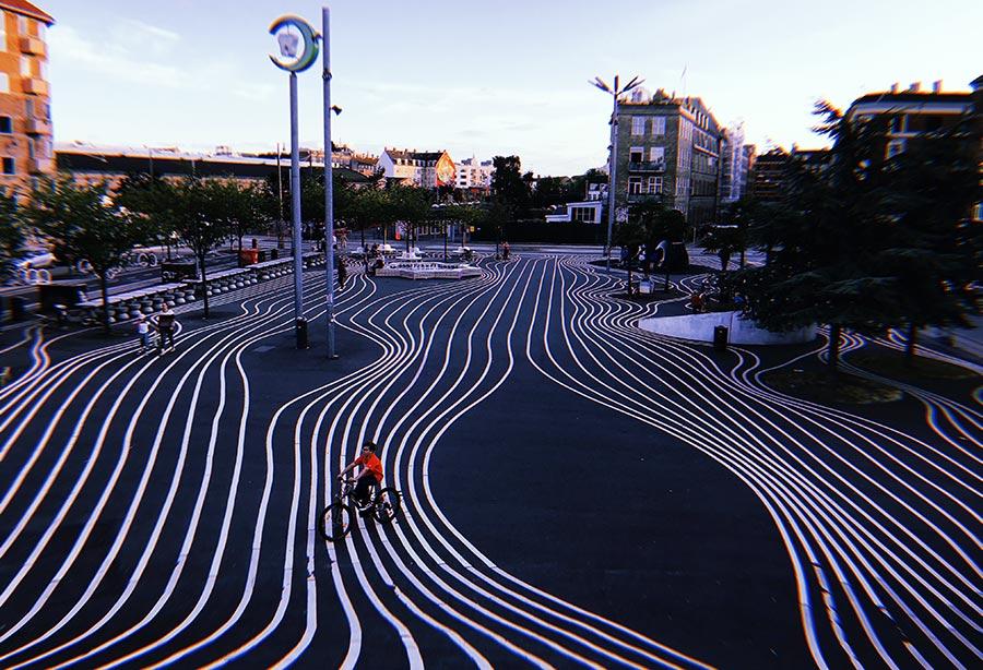 Superkilen en Copenhague, el parque más multicultural de Europa