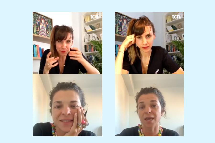 Brainstorming de ideas back to back entre Bibiana Ballbè y Francesca Tur