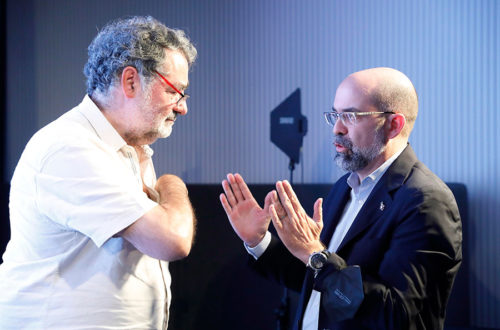 Joan Fontcuberta & Jordi Bernadó en un debate sobre arte, arquitectura y diseño