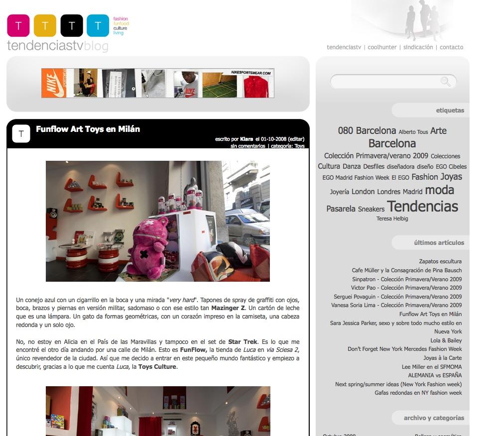 Restyling del Tendenciastv Blog