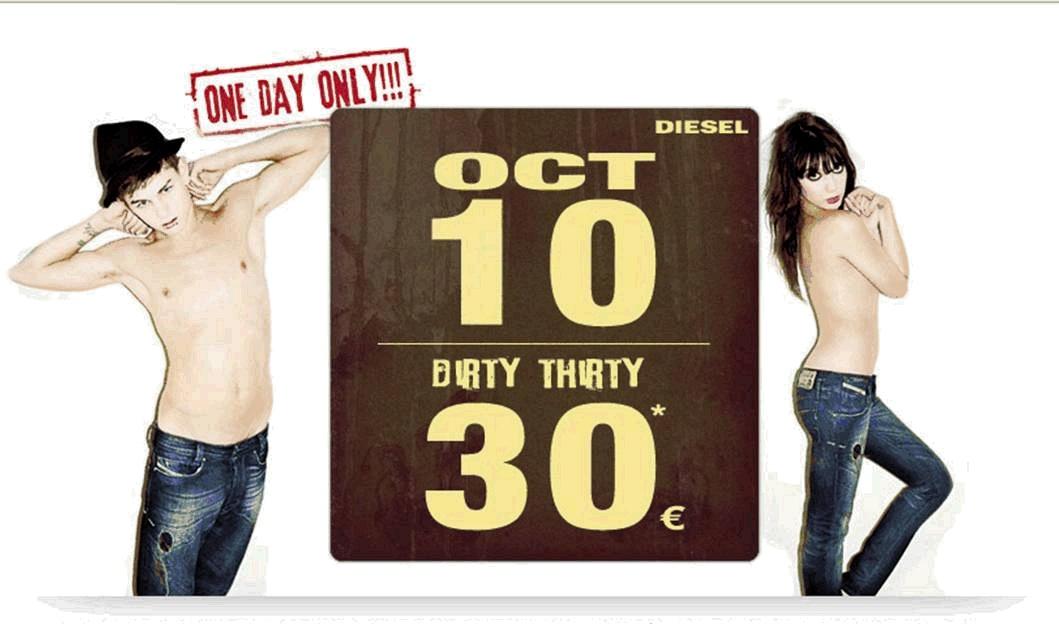 Dirty 30 Diesel jeans