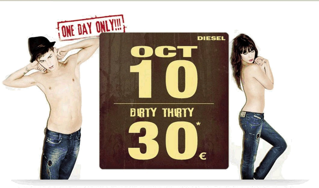 Dirty 30, jeans Diesel a 30€